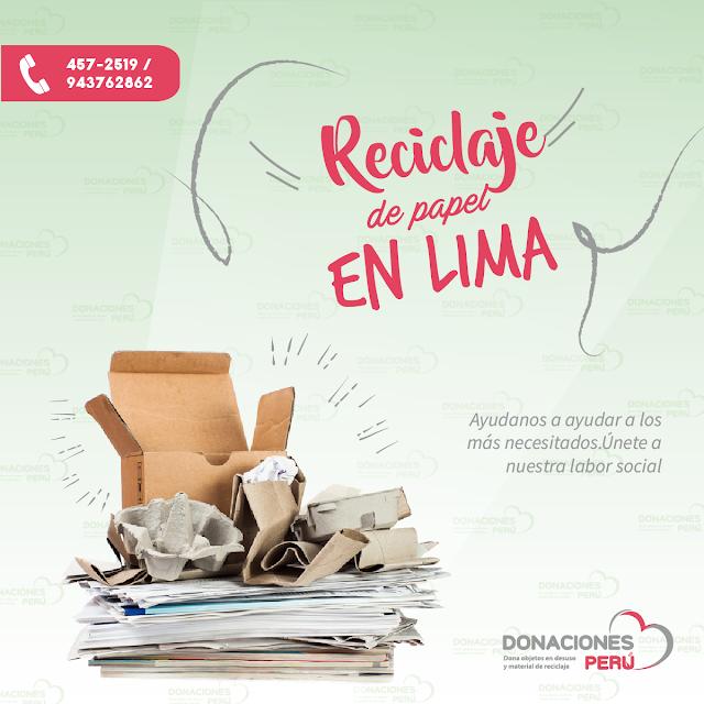 Reciclaje de papel - Dona papel - Dona y recicla - recicla y dona