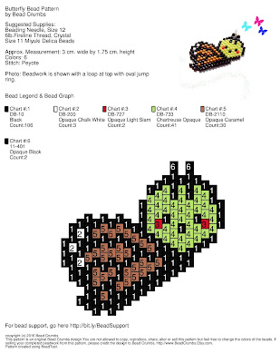 Cute Butterfly Bead Weaving Pattern