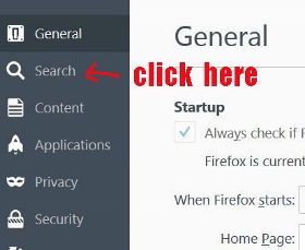 change firefox right click search menu
