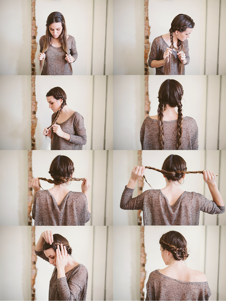 Sincerely, Kinsey: Twisted Maiden Braid Bun // Hair Tutorial