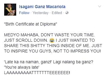 """""""Birth Certificate at Diploma"""" -- PROUD BATANG AMA"""