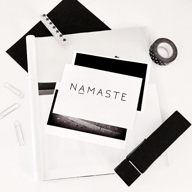 Namaste Art Print, Namaste Printable Print, Printable Poster, Yoga Poster, Typography Poster, Minimal Art Print