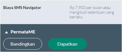Tarif dan Biaya SMS Navigator Bank Permata