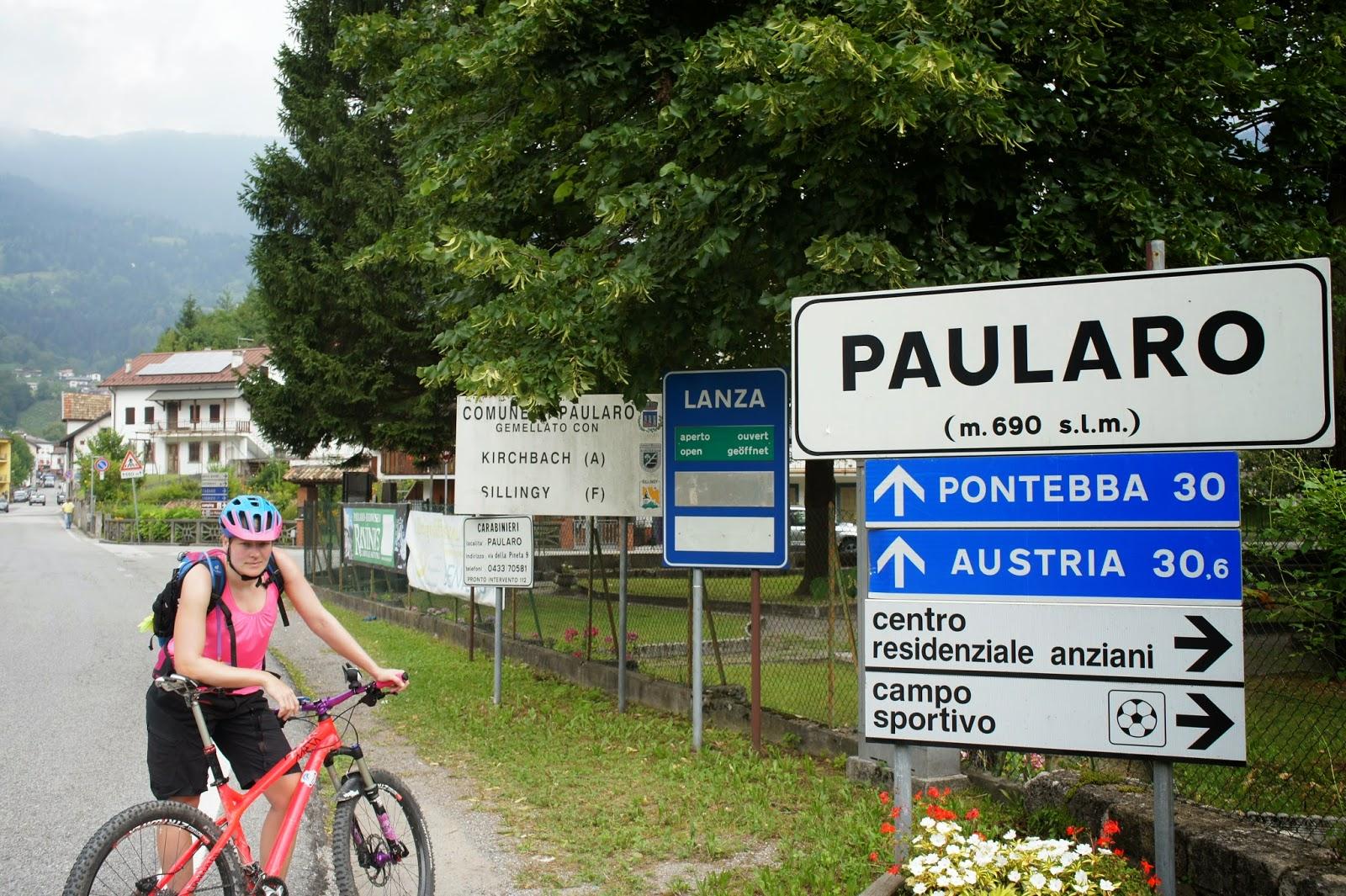 Mounainbike Routen Paularo Tolmezzo