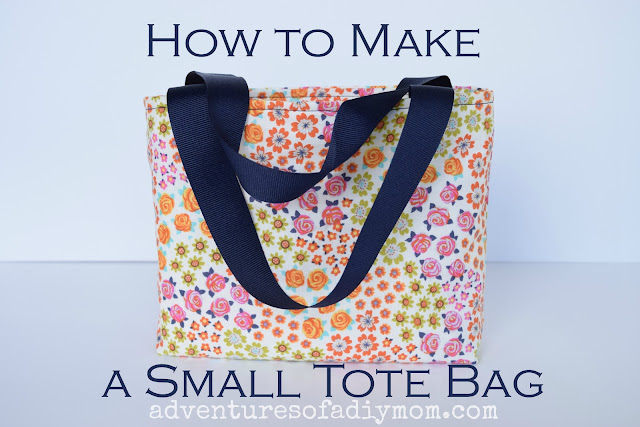 How to sew a small tote bag with a lining - easy DIY tutorial