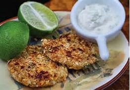 CRAB CAKES WITH LIME SAUCE IN MINUTES
