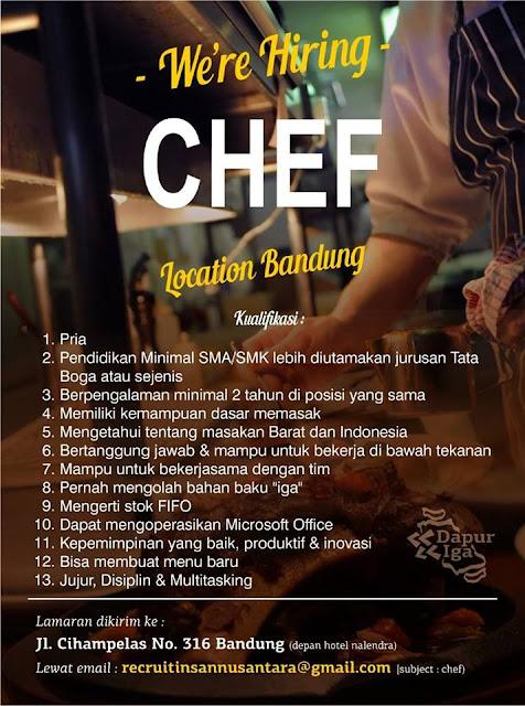 Lowongan Kerja Dapur Iga Bandung