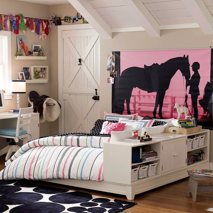 equestrian inspired bedroom