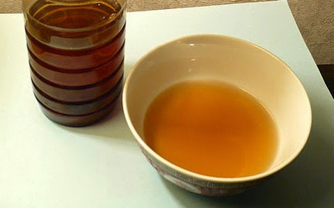 Persimmon vinegar in a bowl