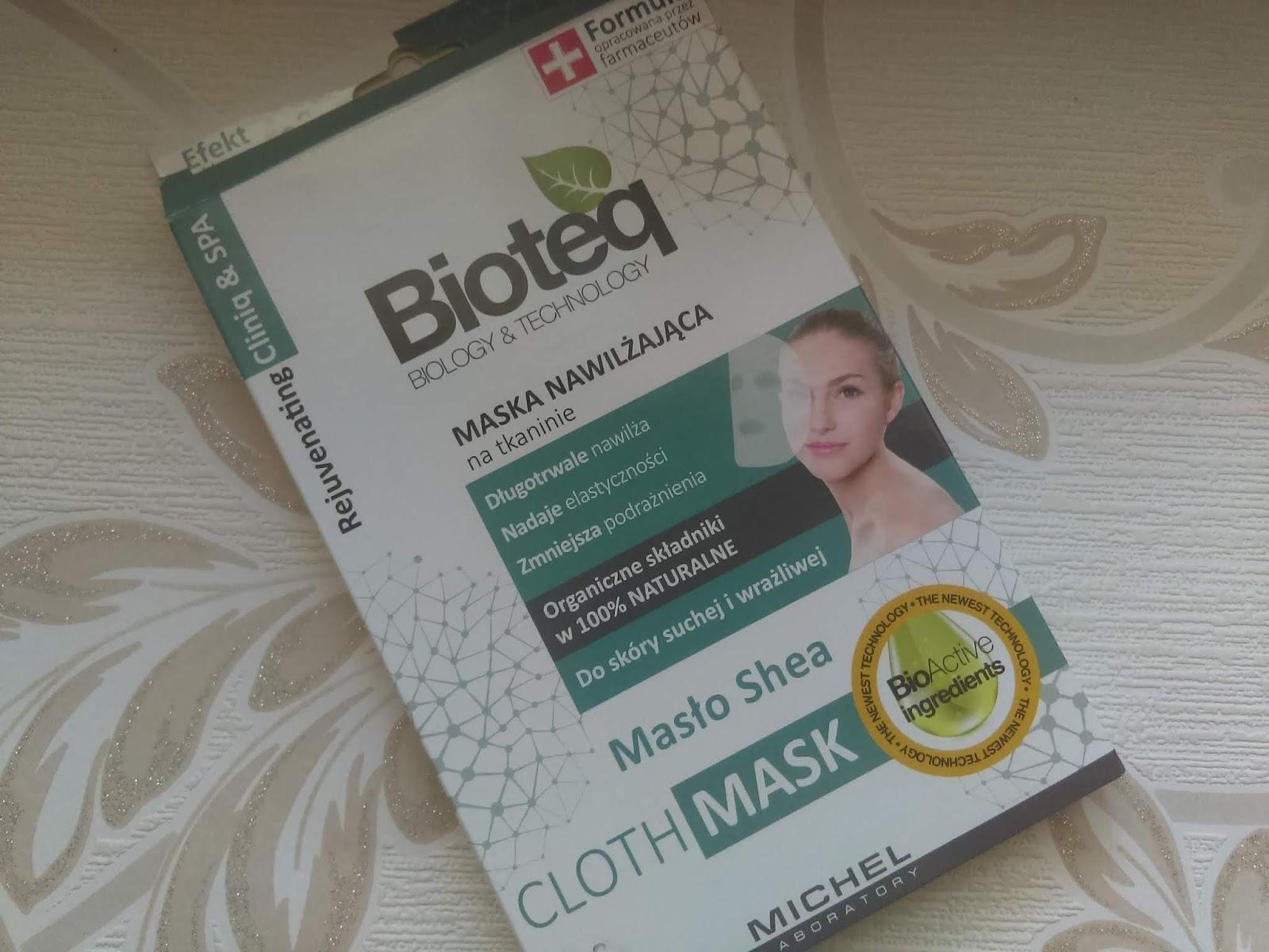 Relaks dla skóry -  Nawilżająca maseczka na tkaninie Bioteq