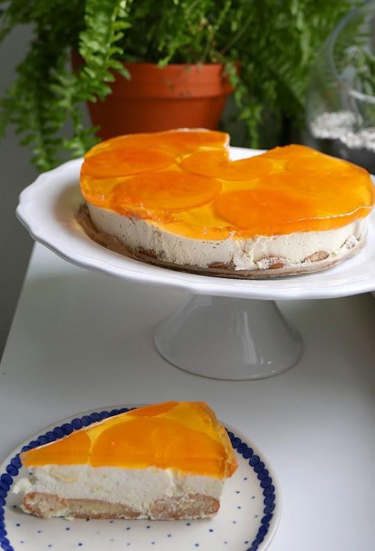 Ciasto na zimno z persymoną i galaretką
