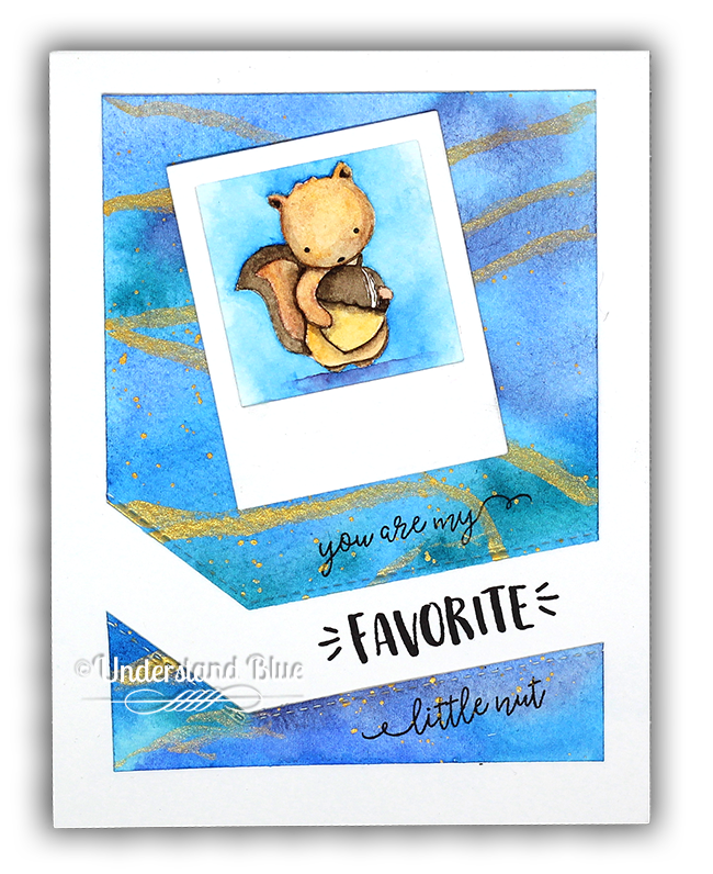 Favorite Nut Squirrel Watercolor Card by Understand Blue