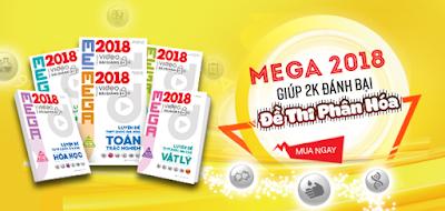 Tải bộ sách Megabook - Mega Luyện Đề THPT Quốc Gia 2018