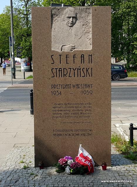 Warszawa Warsaw płyta pamiątkowa pomnik Mokotów