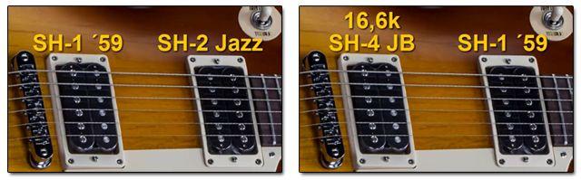 Diferentes Set de Pastillas Humbucker para una Guitarra Les Paul