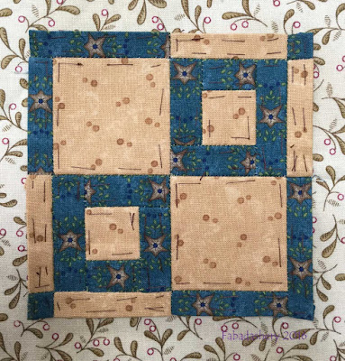Dear Jane Quilt - Block L1 Widow's Pane