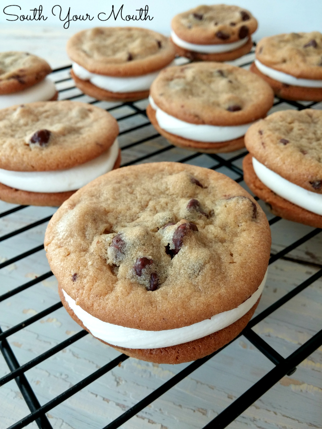 Cookie Sandwiches with No-Fail Marshmallow Cream Frosting (seriously, no measuring required!)