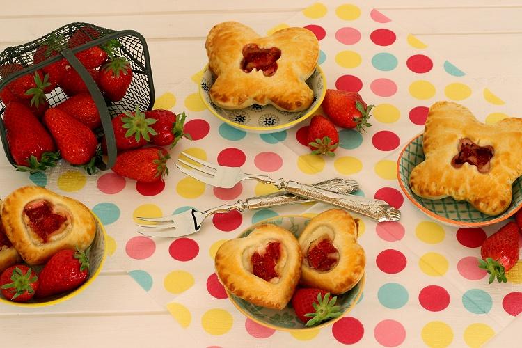 Erdbeer-Pie-Herzen
