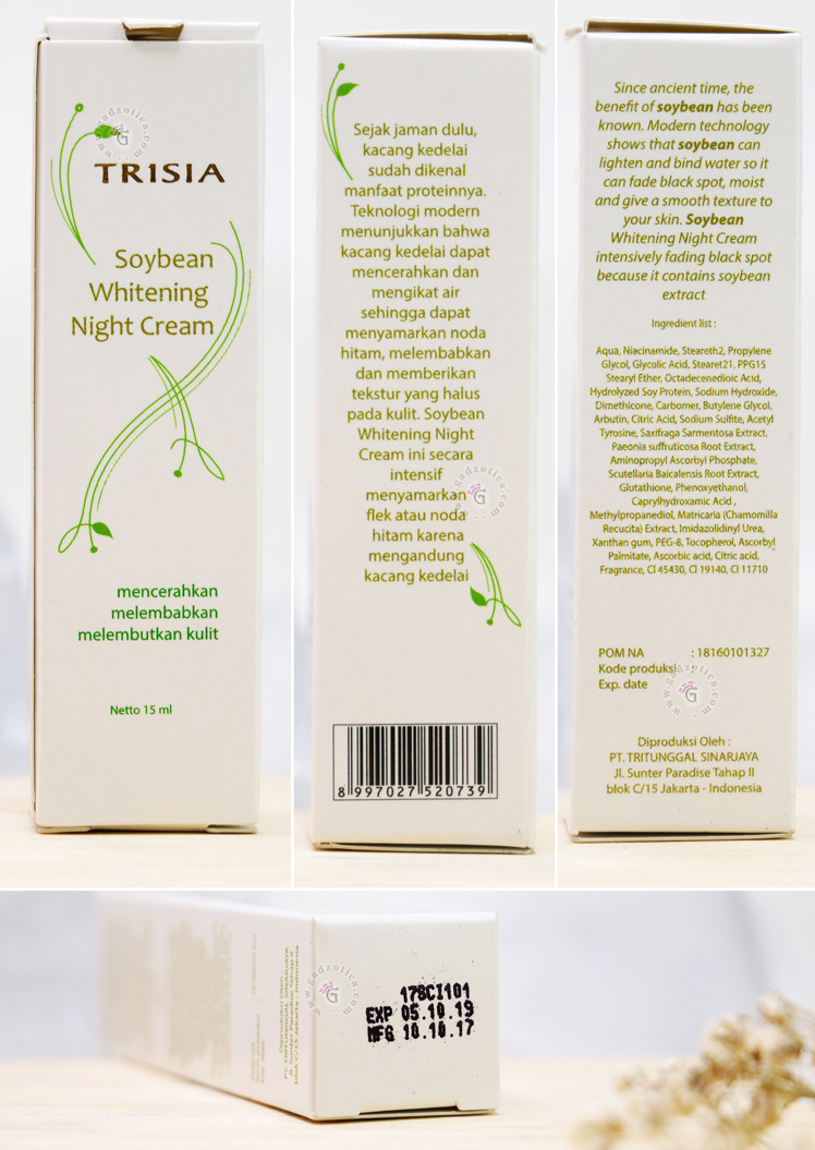 Trisia Soybean Night Cream