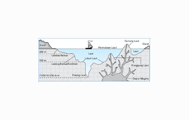 Lautan Berdasarkan Reliefnya (Tinggi Rendahnya)