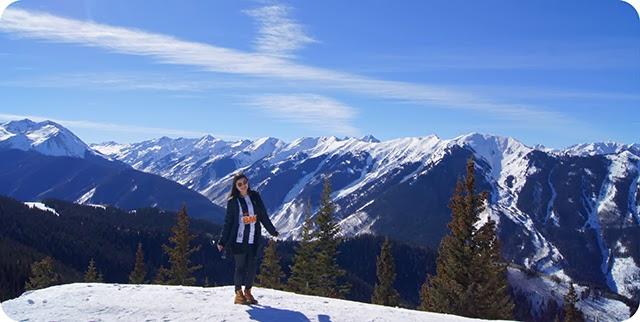 Vista do topo da Aspen Moutain