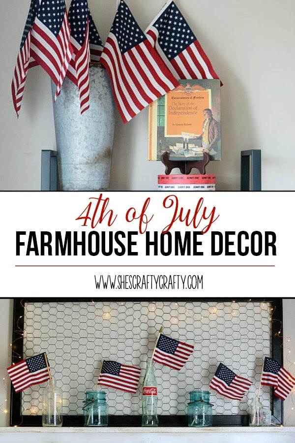 She s crafty  4th of July Farmhouse Home Decor 4th of july farmhouse home decor  how to decorate your home for 4th of july