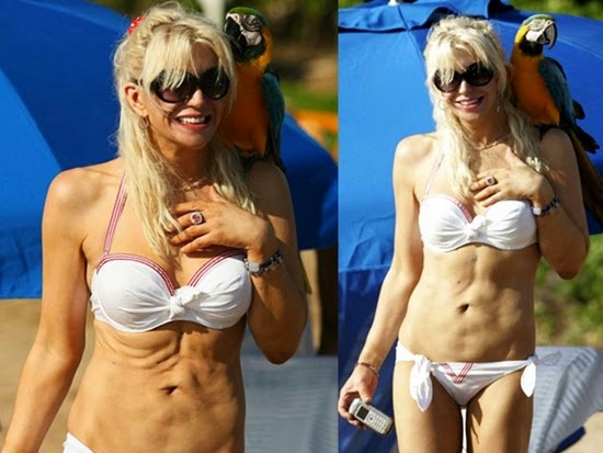 courtney love: tubuh selebriti terburuk di pantai