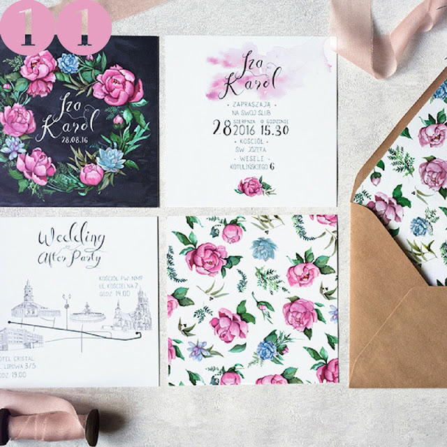 romantyczne zaproszenia ślubne, róże na zaproszeniach ślubnych, zaproszenia ślubne róże