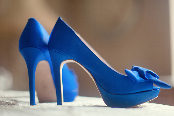 A Wedding Addict: Royal Blue Wedding Shoes