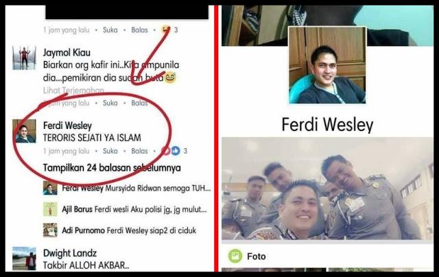 "Heboh Postingan ""Teroris Sejati Ya Islam"", Humas Polres Sebut Akun Palsu Anggota Polri, Benarkah?"