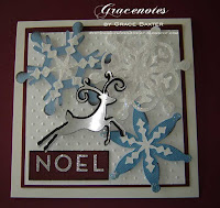 NOEL, A Wintery Scene Christmas card, designed by Grace Baxter