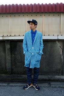 BLACK & BLUE(ブラックアンドブルー)ショップコートスタイル