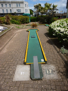 Mini Golf course at Tucks Plot in Dawlish, Devon