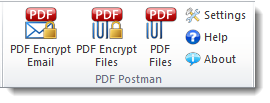 PDF Postman Outlook email encryption toolbar.