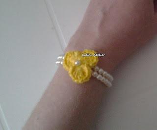pulseira, pulseira crochê, pulseira flor crochê,flor crochê