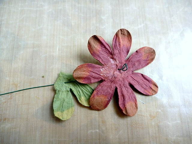 Petal and Leaf Threading on Floral Wire by Dana Tatar