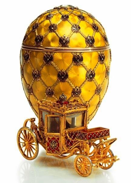 Foto de um Ovo de Fabergé - Carruagem