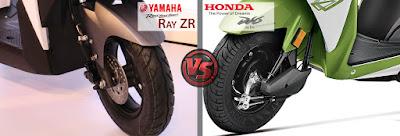Yamaha Cygnus Ray ZR VS Honda Dio Safety Features