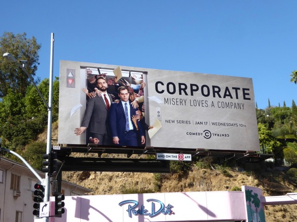 Corporate series premiere billboard