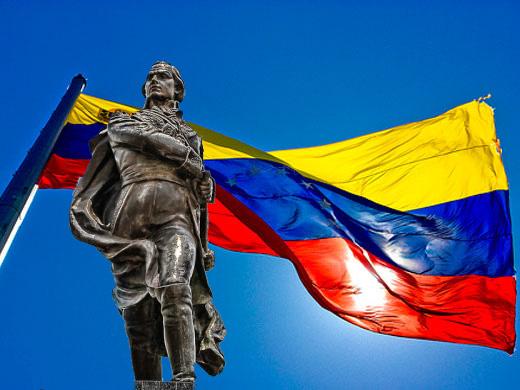 Resultado de imagen para Fotos de Francisco de Miranda enarbola por primera vez la bandera nacional