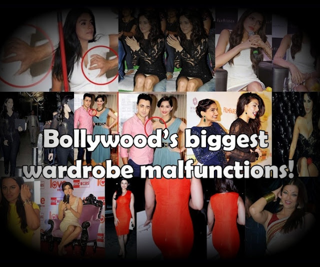 Bollywood actresses wardrobe malfunction, Public Pictures