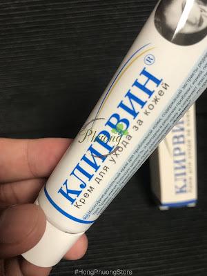 Làm mờ sẹo với kem trị sẹo Klirvin của Nga
