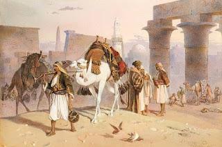 """""""Keliautojai Luksore"""", J. A. Benwell 1877 m."""