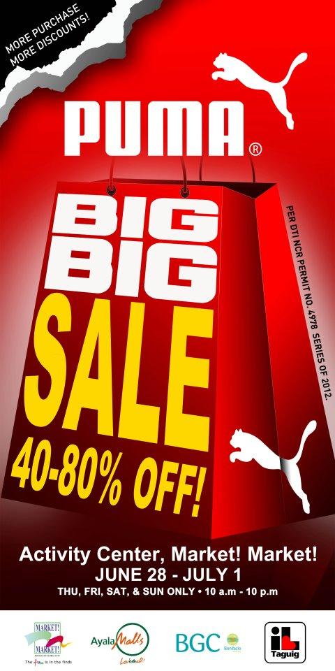 8bd6b960b24c44 PUMA Big Big SALE at Market Market