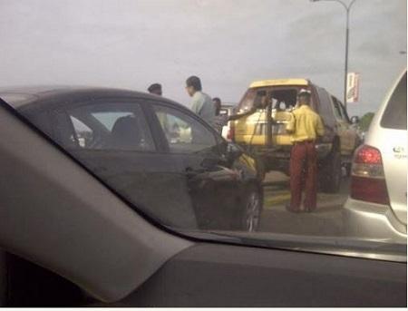 LASTMA Impounds Car of Erring Indian Man on Third Mainland Bridge, Lagos (Photos)