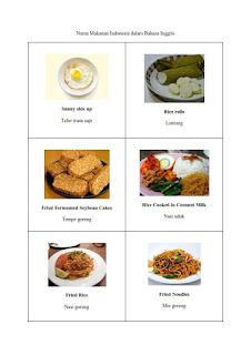 30 nama masakan indonesia dalam bahasa inggris