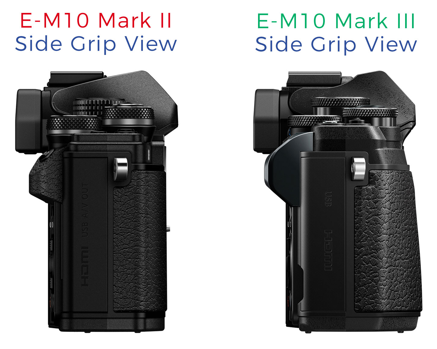 Park Cameras Blog Olympus Om D E M10 Mark Iii Vs Ii Review Kit 14 42mm Ez Silver Side By Comparison Of The And
