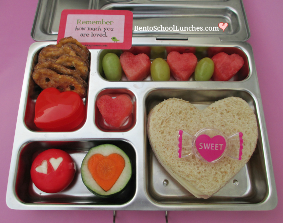 Love Is In The Air, Sweetheart Valentine's Lunch, Bento School Lunches