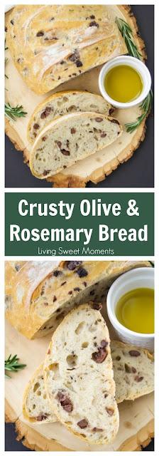 CRUSTY ROSEMARY OLIVE BREAD RECIPE