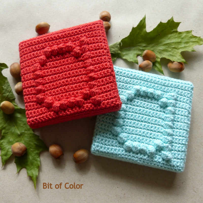 Bit Of Color Free Crochet Pattern Bobble Letter A